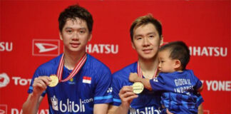 Kevin Sanjaya Sukamuljo/Marcus Fernaldi Gideon have uniquely high standards towards winning championships. (photo: Shi Tang)