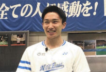 Kento Momota says he has fully recovered from the car accident. (photo: chunichi)