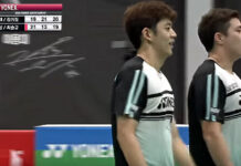 Lee Yong Dae/Kim Gi Jung flex their muscles at Super Match organized by BKA.