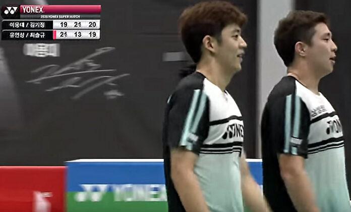 Lee Yong Dae/Kim Gi Jung flex their muscles at Super Match organized by BKA.