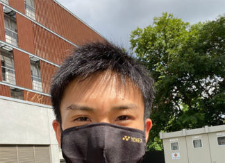 Can't wait to see Kento Momota back in action! (photo: Kento Momota's Twitter)