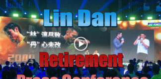 Lin Dan makes first public appearance since retirement. (photo: Sina)