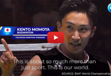 Kento Momota steps up to help fight coronavirus in Japan. (photo: screenshot from P&G video)