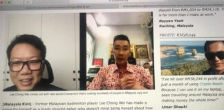 Scammers are pretending to be Lee Chong Wei to sell get-rich-quick schemes. (photo: Lee Chong Wei's Facebook)