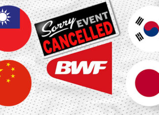 2020 Chinese Taipei Open, Korea Open, China Open & Japan Open the latest BWF events to be canceled over safety concerns.