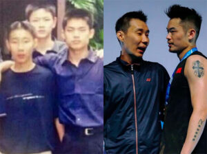 Lee Chong Wei takes badminton fans for a trip down memory lane by showing some pictures of him and Lin Dan on his social media page. (photo: Lee Chong Wei's Facebook)
