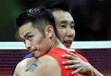 Both Lee Chong Wei and Lin Dan are the greatest badminton players of all time. (photo: Xinhua)