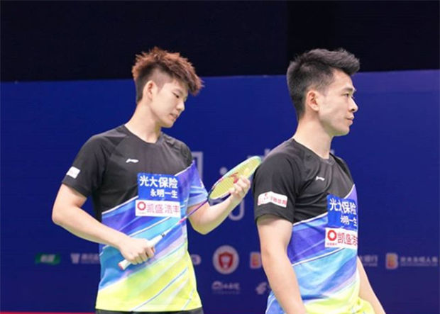 Zheng Siwei (R)/Liu Yuchen are two power smashers in badminton. (photo: Zheng Siwei Instagram)