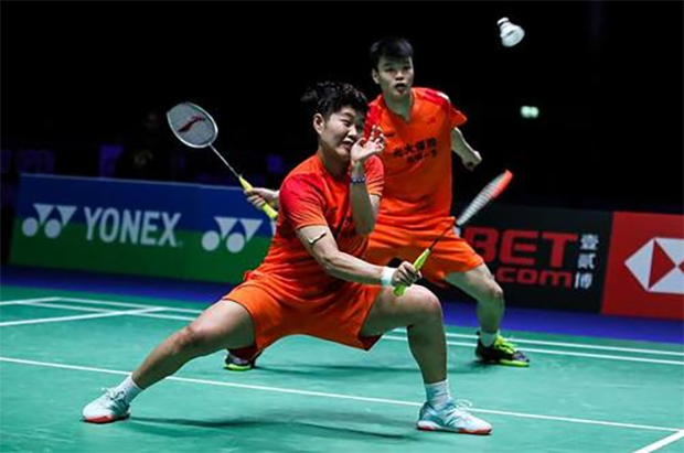Wang Yi Lyu/Huang Dong Ping easily defeat opponents from the Hunan team. (photo: CBSL)