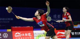 Chen Qingchen (L)/Zheng Yu lead Qingdao to the 2020 China Badminton Super League (CBSL) final. (photo: Weibo)