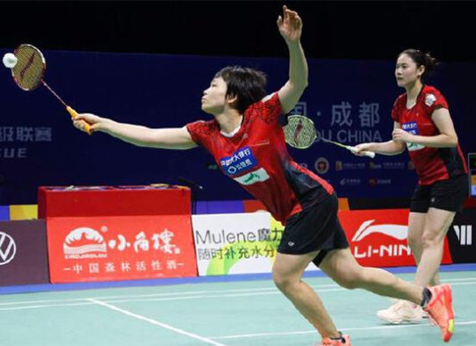 Chen Qingchen (L)/Zheng Yu lead Qingdao to the 2020 China Badminton Super League (CBSL) final. (photo: Weibo)