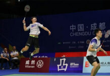 Zheng Siwei (R)/Liu Yuchen guide Qingdao to 3-2 win over Zhejiang. (photo: CBSL)