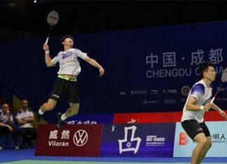 Zheng Siwei (R)/Liu Yuchen guide Qingdao to 3-2 win over Zhejiang. (photo: CBSL)