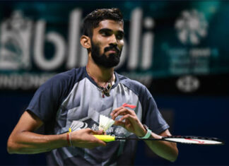 Kidambi Srikanth is playing at the 2020 Denmark Open. (photo: Robertus Pudyanto/Getty Images)