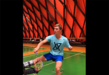 Viktor Axelsen is going through light practice after his right ankle surgery. (photo: Viktor Axelsen's Facebook)