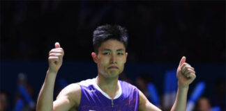Chou Tien Chen to play at Denmark Open despite coronavirus fears. (photo: Robertus Pudyanto/Getty Images)