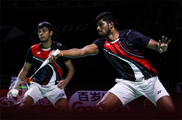 Hope Satwiksairaj Rankireddy (R) feels better soon and can go back to training as soon as possible. (photo: Shi Tang/Getty Images)