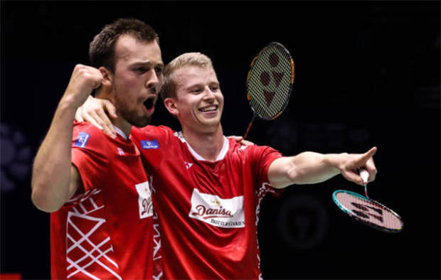 Kim Astrup and Anders Skaarup Rasmussen are unhappy with BWF's decision of postponing the three Asia legs tournaments at the end of 2020. (photo: Shi Tang/Getty Images)