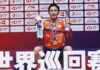 Kento Momota wins the 2019 World Tour Finals in Guangzhou, China, on Dec. 15, 2019. (photo: Xinhua)