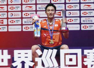 Kento Momota wins the 2019 World Tour Finals in Guangzhou, China, on Dec. 15, 2019. (photo: Xinhua)