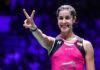 Carolina Marin off to a good start at the 2020 Denmark Open. (photo: Shi Tang/Getty Images)