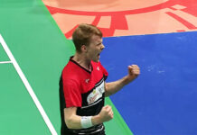 Anders Antonsen beats Chou Tien Chen in Denmark Open semi-final.
