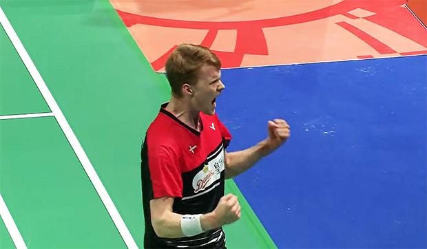 Anders Antonsen beats Chou Tien Chen in Denmark Open semi-final.