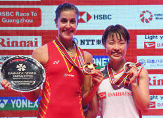 Carolina Marin to meet Nozomi Okuhara for the 16th-time in the Demark Open final. (photo: Atsushi Tomura/Getty Images)