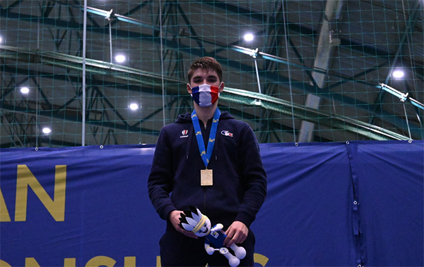 Christo Popov wins the 2020 European Junior Championships. (photo: Badminton Europe)
