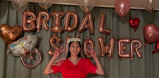 Beautiful bridal shower pictures for Sung Ji Hyun.