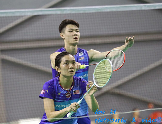 Lee Zii Jia and Lai Pei Jing play mixed doubles at the BAM Mixed Team Championships. (photo: How Kt)