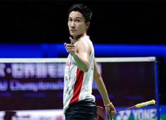 Kento Momota announces his return to the competition. (photo: Lintao Zhang/Getty Images)
