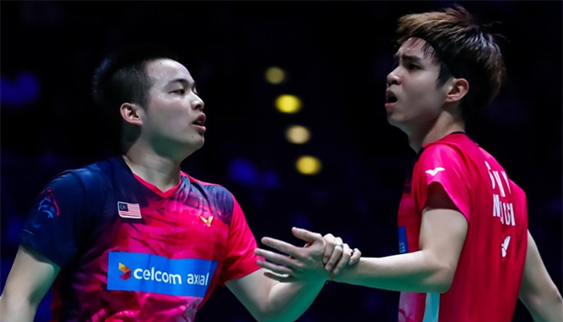 Aaron Chia/Soh Wooi Yik and Goh V Shem/Tan Wee Kiong in same half of YONEX Thailand Open draw. (photo: BWF)