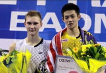 Viktor Axelsen vs. Daren Liew (R) in Toyota Thailand Open Quarters. (photo: BWF)