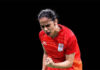 Saina Newah to play Kisona Selvaduray of Malaysia on Wednesday. (photo: Albert Perez/Getty Images)