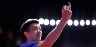 Daren Liew injured his right ring finger during the YONEX Thailand Open second-round match. (photo: Shi Tang/Getty Images)