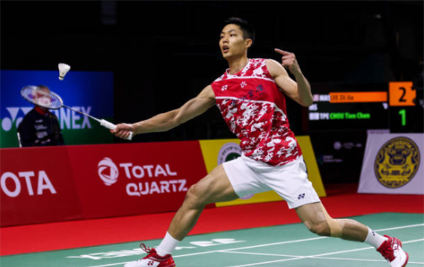 Chou Tien Chen secures a spot in the Thailand Open semi-final. (photo: Shi Tang/Getty Images)