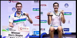 Viktor Axelsen and Carolina Marin win YONEX Thailand Open.(photo: Shi Tang/GettyImages)