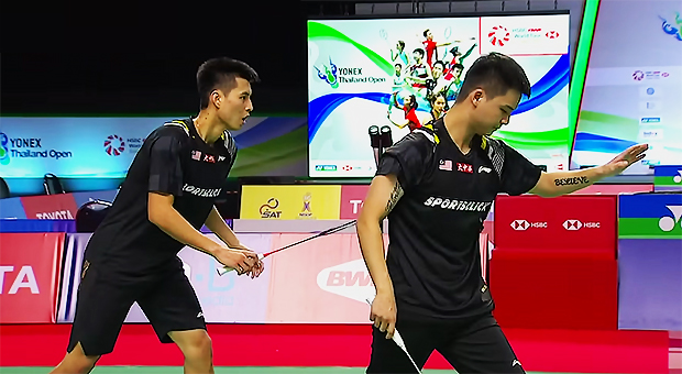 Teo Ee Yi/Ong Yew Sin fight hard to win the Toyota Thailand Open first round.