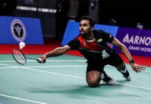 HS Prannoy survives to complete the epic Thailand Open comeback. (photo: Shi Tang/Getty Images)