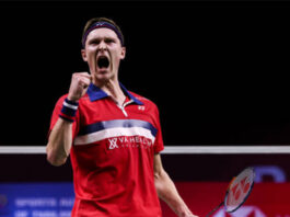 Viktor Axelsen eyes second men's singles title in two weeks in Toyota Thailand Open final. (photo: Shi Tang/Getty Images)