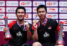 Can the 2019 men's doubles champions Mohammad Ahsan/Hendra Setiawan defend their BWF World Tour Finals title in Bangkok? (photo: Shi Tang/Getty Images)