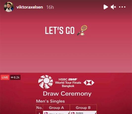 Viktor Axelsen is optimistic about 2020 BWF World Tour Finals chances. (photo: Viktor Axelsen's Instagram)