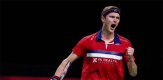 Viktor Axelsen outlasts Lee Zii Jia to stay dominant in 2020 BWF World Tour Finals. (photo: Shi Tang/Getty Images)