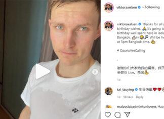 Viktor Axelsen stays physically active during self-quarantine.