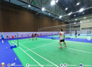 Malaysian badminton team starts training in Bangkok. (photo: BWF)