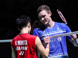 Kento Momota (L), Viktor Axelsen placed on opposite sides of the 2021 All England draw. (photo: Getty Images)