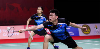 Tan Kian Meng resumes his mixed doubles partnership with Lai Pei Jing. (photo: Shi Tang/Getty Images)