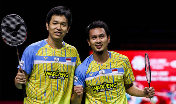 Mohammad Ahsan/Hendra Setiawan continue to roll back the years. (photo: Shi Tang/ Getty Images)