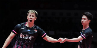 Marcus Gideon/Kevin Sukamuljo making a comeback at the 2021 All England. (photo: GettyImages)